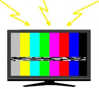 TV ノイズイラスト