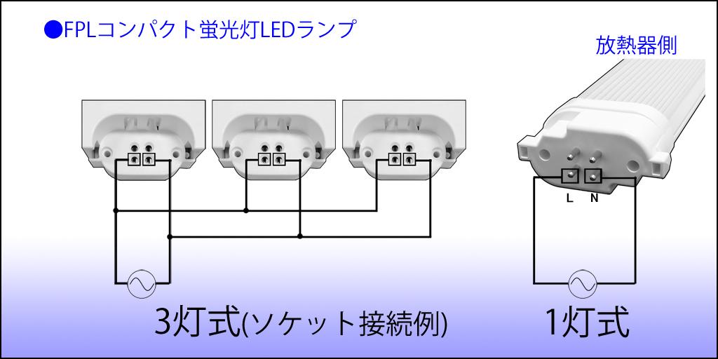 結線図_FPLコンパクト蛍光灯LEDランプ